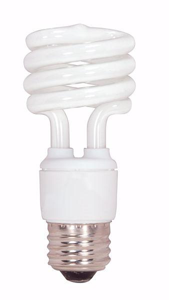 Picture of SATCO S7218 13T2/E26/4100K/120V  Compact Fluorescent Light Bulb