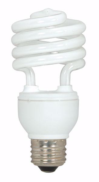 Picture of SATCO S7225 18T2/E26/4100K/120V  Compact Fluorescent Light Bulb