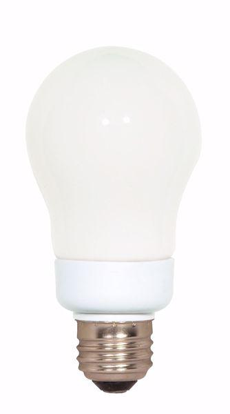 Picture of SATCO S7282 7A19/E26/4100K/120V  Compact Fluorescent Light Bulb
