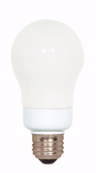 Picture of SATCO S7286 9A19/E26/5000K/120V  Compact Fluorescent Light Bulb