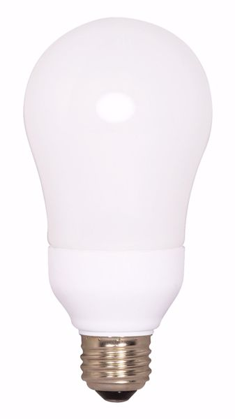 Picture of SATCO S7292 15A19/E26/4100K/120V  Compact Fluorescent Light Bulb