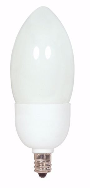 Picture of SATCO S7319 7CTCFL/E12/5000K/120V/1PK Compact Fluorescent Light Bulb