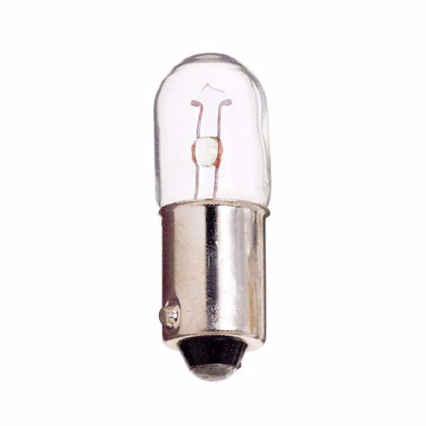 Picture of SATCO S7824 1847 6.3V 1W BA9S T3 1/4 C2R Incandescent Light Bulb