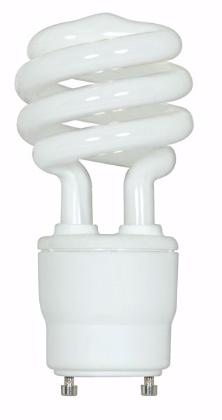 Picture of SATCO S8205 18T2/GU24/2700K/120V/1PK Compact Fluorescent Light Bulb