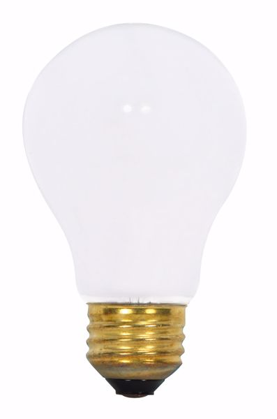 Picture of SATCO S8517 75A19/RS 130V Incandescent Light Bulb
