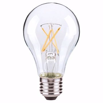 Picture of SATCO S8616 7A19/CL/LED/E26/27K/ES/120V LED Light Bulb