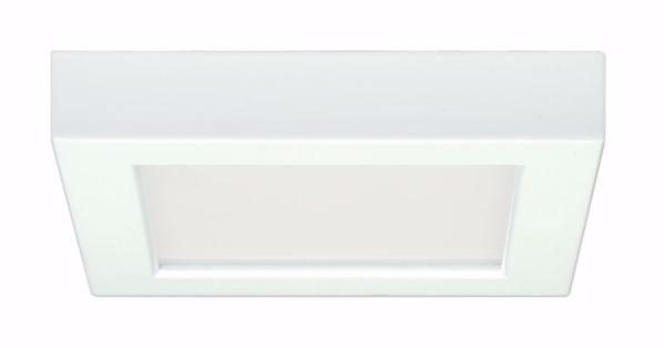 """Picture of SATCO S9324 10.5W/LED/5.5""""FLUSH/27K/SQ/WH LED Light Bulb"""