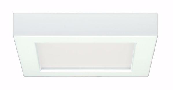 """Picture of SATCO S9327 10.5W/LED/5.5""""FLUSH/30K/SQ/WH LED Light Bulb"""