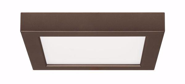 "Picture of SATCO S9334 13.5W/LED/7""FLUSH/27K/SQ/BRZ LED Light Bulb"