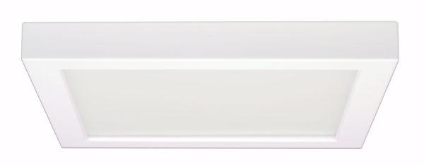 """Picture of SATCO S9340 18.5W/LED/9""""FLUSH/27K/SQ/WH LED Light Bulb"""