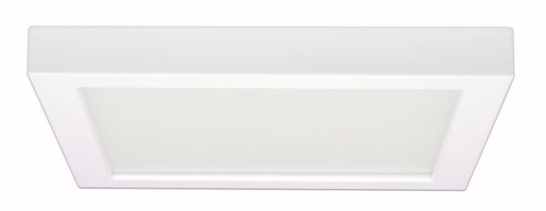 "Picture of SATCO S9343 18.5W/LED/9""FLUSH/30K/SQ/WH LED Light Bulb"