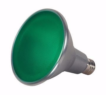 Picture of SATCO S9481 15PAR38/LED/40'/GREEN/120V LED Light Bulb