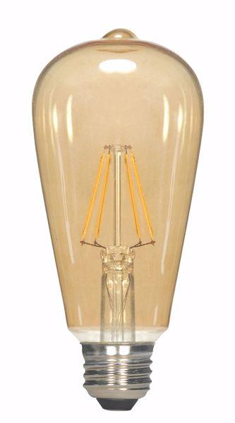 Picture of SATCO S9579 6.5ST19/AMB/LED/E26/23K/120V LED Light Bulb