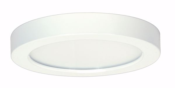 "Picture of SATCO S9655 13.5W/LED/7""FLUSH/40K/RD/WH LED Light Bulb"