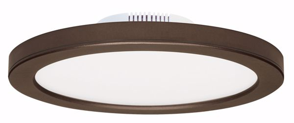 "Picture of SATCO S9889 16W/LED/9""FLUSH/3K/BRZ/SL LED Light Bulb"