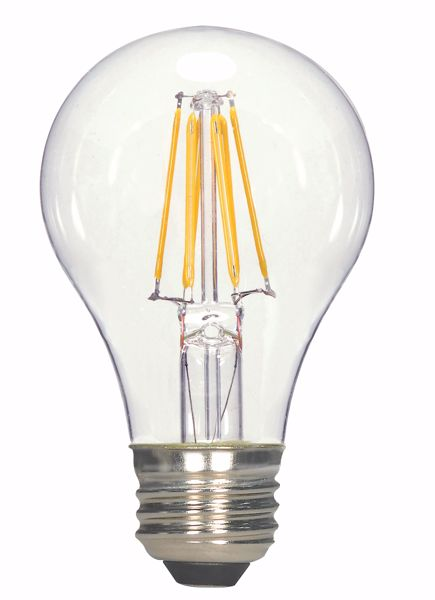 Picture of SATCO S9894 6.5A19/CL/LED/E26/30K/120V LED Light Bulb
