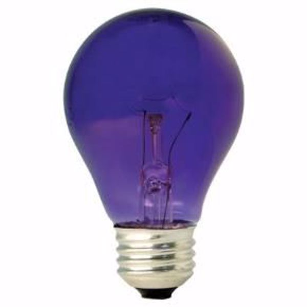 Picture of Ge 22731 25W A19 TRANS. PURPLE 120V Incandescent Light Bulb 6 Pack