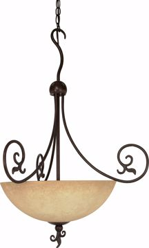 "Picture of NUVO Lighting 60/050 Tapas - 3 Light - 24"" - Pendant - with Tuscan Suede Glass"