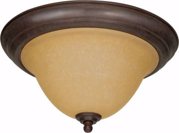 "Picture of NUVO Lighting 60/1026 Castillo - 2 Light - 16"" - Flush Mount - with Champagne Linen Washed Glass"