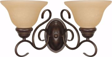 """Picture of NUVO Lighting 60/1031 Castillo - 2 Light - 18"""" - Wall Fixture - with Champagne Linen Washed Glass"""