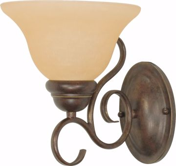 """Picture of NUVO Lighting 60/1032 Castillo - 1 Light - 8"""" - Wall Fixture - with Champagne Linen Washed Glass"""