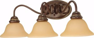 """Picture of NUVO Lighting 60/1035 Castillo - 3 Light - 25"""" - Wall Fixture - with Champagne Linen Washed Glass"""