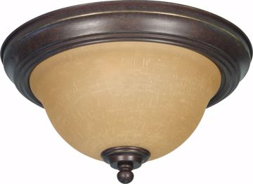 """Picture of NUVO Lighting 60/1037 Castillo - 2 Light - 11"""" - Flush Mount - with Champagne Linen Washed Glass"""