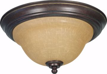 """Picture of NUVO Lighting 60/1038 Castillo - 2 Light - 13"""" - Flush Mount - with Champagne Linen Washed Glass"""