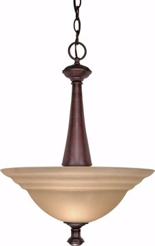 """Picture of NUVO Lighting 60/104 Mericana - 2 Light - 16"""" - Pendant - with Amber Water Glass"""