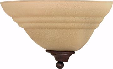 "Picture of NUVO Lighting 60/106 Mericana - 1 Light - 13"" - Wall Fixture - with Amber Water Glass"