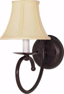"Picture of NUVO Lighting 60/111 Mericana - 1 Light - 6"" - Sconce - with Natural Linen Shade"