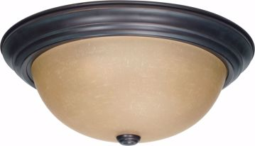 """Picture of NUVO Lighting 60/1257 3 Light 15"""" Flush Mount with Champagne Linen Washed Glass"""