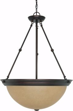 "Picture of NUVO Lighting 60/1263 3 Light 20"" Pendant with Champagne Linen Washed Glass"