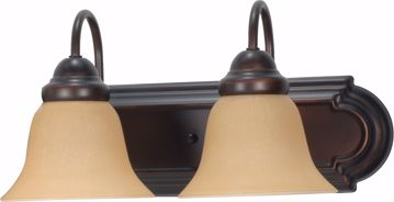 """Picture of NUVO Lighting 60/1264 Ballerina 2 Light 18"""" Vanity with Champagne Linen Washed Glass"""