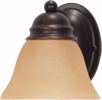 """Picture of NUVO Lighting 60/1269 Empire 1 Light 7"""" Vanity with Champagne Linen Washed Glass"""