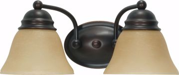 """Picture of NUVO Lighting 60/1271 Empire 2 Light 15"""" Vanity with Champagne Linen Washed Glass"""