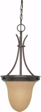"""Picture of NUVO Lighting 60/1278 1 Light 10"""" Pendant with Champagne Linen Washed Glass"""