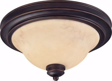 "Picture of NUVO Lighting 60/1406 Anastasia - 2 Light 13"" Flush Dome with Honey Marble Glass"