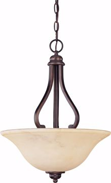 Picture of NUVO Lighting 60/1409 Anastasia - 3 Light Pendant with Honey Marble Glass