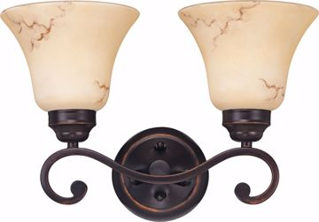 Picture of NUVO Lighting 60/1413 Anastasia - 2 Light Vanity with Honey Marble Glass