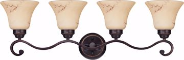 Picture of NUVO Lighting 60/1415 Anastasia - 4 Light Vanity with Honey Marble Glass