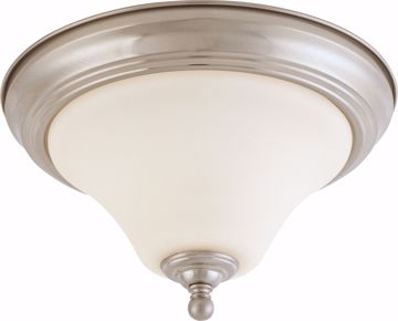 "Picture of NUVO Lighting 60/1824 Dupont - 1 light 11"" Flush Mount with Satin White Glass"