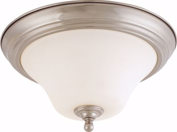 "Picture of NUVO Lighting 60/1825 Dupont - 2 light 13"" Flush Mount with Satin White Glass"