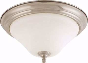 "Picture of NUVO Lighting 60/1826 Dupont - 2 light 15"" Flush Mount with Satin White Glass"