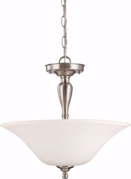 Picture of NUVO Lighting 60/1827 Dupont - 3 Light Semi Flush with Satin White Glass