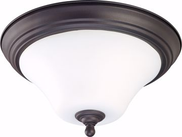 "Picture of NUVO Lighting 60/1844 Dupont - 1 light 11"" Flush Mount with Satin White Glass"