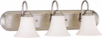 Picture of NUVO Lighting 60/1914 Dupont ES - 3 Light Vanity with Satin White Glass - 13w GU24 Lamps Included