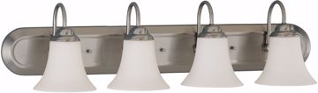 Picture of NUVO Lighting 60/1915 Dupont ES - 4 Light Vanity with Satin White Glass - 13w GU24 Lamps Included