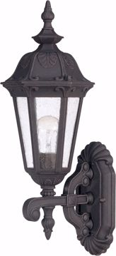 Picture of NUVO Lighting 60/2035 Cortland - 1 Light Small Wall Lantern- Arm Up with Seeded Glass
