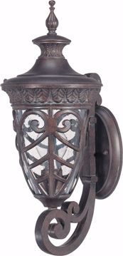 Picture of NUVO Lighting 60/2055 Aston - 1 Light Small Wall Lantern Arm Up with Seeded Glass